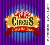 carnival banner. circus. fun... | Shutterstock . vector #1193451844