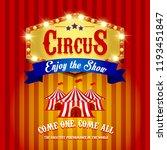 carnival banner. circus. fun... | Shutterstock . vector #1193451847