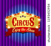 carnival banner. circus. fun... | Shutterstock . vector #1193452954