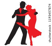 ballroom dance people | Shutterstock .eps vector #1193457874