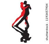 ballroom dance people | Shutterstock .eps vector #1193457904