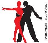 ballroom dance people | Shutterstock .eps vector #1193457907