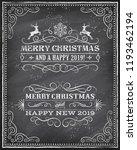 vector christmas greeting card... | Shutterstock .eps vector #1193462194