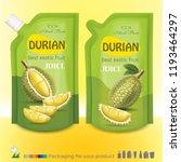 durian juice package | Shutterstock .eps vector #1193464297