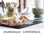 elegant appetizer on  black... | Shutterstock . vector #1193465611