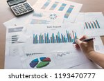 business reports that are made... | Shutterstock . vector #1193470777