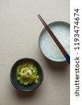 rice porridge and cold bitter... | Shutterstock . vector #1193474674