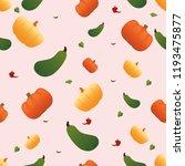 seamless pumpkin flat abstract   Shutterstock .eps vector #1193475877