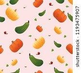 seamless pumpkin flat abstract   Shutterstock .eps vector #1193475907