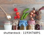 selection of naturally... | Shutterstock . vector #1193476891