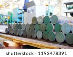 iron billets are in stock and... | Shutterstock . vector #1193478391