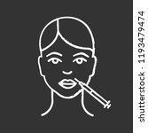 lips neurotoxin injection chalk ... | Shutterstock .eps vector #1193479474
