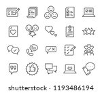 set of feedback line icons ... | Shutterstock .eps vector #1193486194