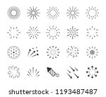 Set Of Firework Icons  Such As...