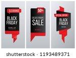 black friday label  banner and... | Shutterstock .eps vector #1193489371