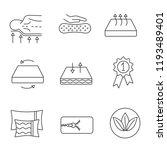 mattress linear icons set.... | Shutterstock .eps vector #1193489401
