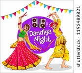 indian traditional dance ... | Shutterstock .eps vector #1193489821