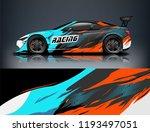 car wrap design. livery design...   Shutterstock .eps vector #1193497051