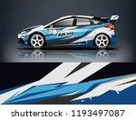 car wrap design. livery design... | Shutterstock .eps vector #1193497087