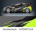 car wrap design. livery design...   Shutterstock .eps vector #1193497114