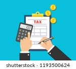 tax auditors are filling out... | Shutterstock .eps vector #1193500624