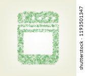 stove sign. vector. green... | Shutterstock .eps vector #1193501347