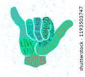 vector lettering illustration   ... | Shutterstock .eps vector #1193503747