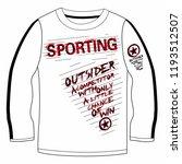 stylish trendy slogan tee t... | Shutterstock .eps vector #1193512507
