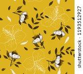 trendy seamless flower pattern. ... | Shutterstock .eps vector #1193512927