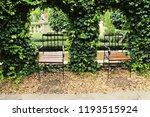 set chairs of vintage style in... | Shutterstock . vector #1193515924