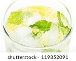 healthy club soda with lemon... | Shutterstock . vector #119352091