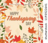 happy thanksgiving day card... | Shutterstock .eps vector #1193522641