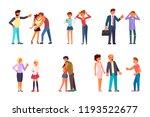 parent adolescent conflict... | Shutterstock .eps vector #1193522677