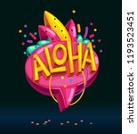 aloha speech bubble cartoon... | Shutterstock .eps vector #1193523451