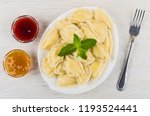 bowls with jams  cooked... | Shutterstock . vector #1193524441