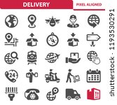 delivery icons. professional ... | Shutterstock .eps vector #1193530291