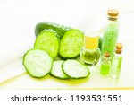 cucumber home spa and hair care ... | Shutterstock . vector #1193531551