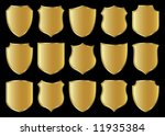 golden shield design set with...