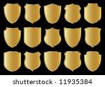 golden shield design set with...