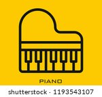 piano icon signs | Shutterstock .eps vector #1193543107