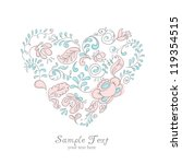 vector ornament floral heart | Shutterstock .eps vector #119354515