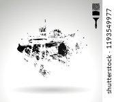 black brush stroke and texture. ... | Shutterstock .eps vector #1193549977