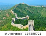 great wall of china in summer ... | Shutterstock . vector #119355721