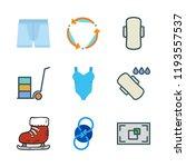 fitness icon set. vector set... | Shutterstock .eps vector #1193557537