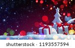 holidays decoration with... | Shutterstock . vector #1193557594