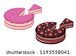 birthday cake and chocolate... | Shutterstock .eps vector #1193558041