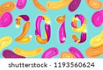 2019 new year card or poster... | Shutterstock .eps vector #1193560624
