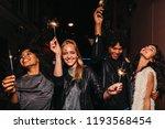 four diverse friends having fun ... | Shutterstock . vector #1193568454