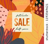 autumn design with abstract... | Shutterstock .eps vector #1193569621