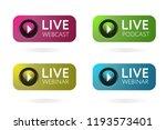 live webcast  podcast  webinar... | Shutterstock .eps vector #1193573401